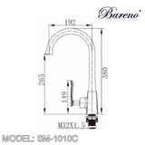 BARENO PLUS Pillar Sink Mixer SM-1010C, Kitchen Faucets, BARENO PLUS - Topware Solutions