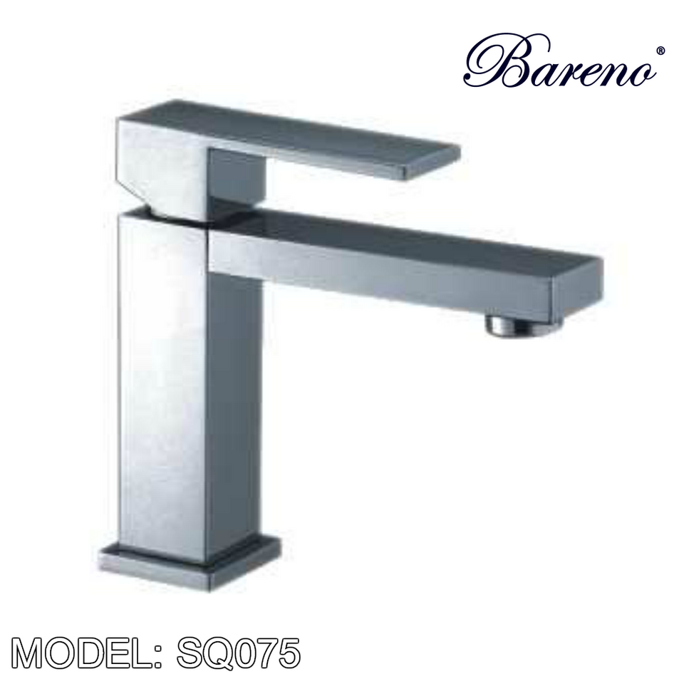 BARENO PLUS Pillar Basin Mixer SQ075, Bathroom Faucets, BARENO PLUS - Topware Solutions
