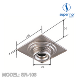 SUPERINO Floor Grating SR106, Bathroom Accessories, SUPERINO - Topware Solutions