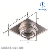SUPERINO Floor Grating SR108, Bathroom Accessories, SUPERINO - Topware Solutions