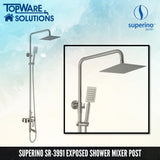 SUPERINO SR-3991 Exposed Shower Mixer Post Three Way, Bathroom Faucets, SUPERINO - Topware Solutions