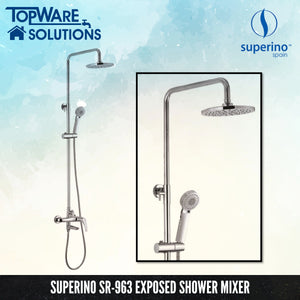 [ LIMITED STOCK ] SUPERINO SR-963 Exposed Shower Mixer Post Three Way, Bathroom Faucets, SUPERINO - Topware Solutions