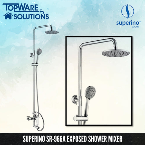 SUPERINO SR-966A Exposed Shower Mixer Post Three Way, Bathroom Faucets, SUPERINO - Topware Solutions