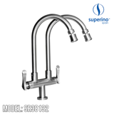SUPERINO Double Spout Pillar Sink Tap SR38132, Kitchen Faucets, SUPERINO - Topware Solutions