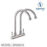 SUPERINO Double Spout Wall Sink Tap SR38212, Kitchen Faucets, SUPERINO - Topware Solutions
