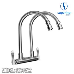 SUPERINO Double Spout Wall Sink Tap SR38232 Kitchen Faucets SUPERINO - Topware Solutions