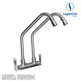 SUPERINO Double Spout Wall Sink Tap SR38234, Kitchen Faucets, SUPERINO - Topware Solutions