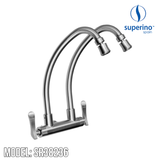 SUPERINO Double Spout Wall Sink Tap SR38236, Kitchen Faucets, SUPERINO - Topware Solutions