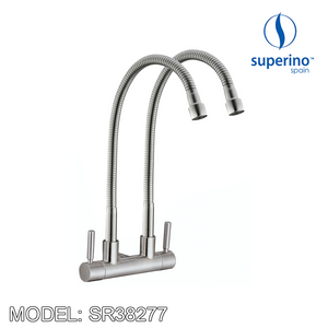 SUPERINO Double Spout Wall Sink Tap SR38277, Kitchen Faucets, SUPERINO - Topware Solutions