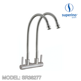 SUPERINO Double Spout Wall Sink Tap SR38277 Bathroom Faucets SUPERINO - Topware Solutions