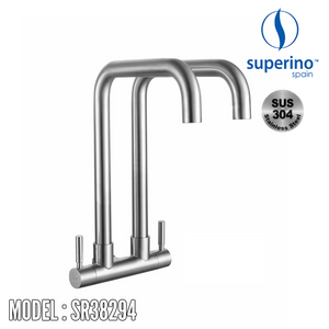 SUPERINO Double Spout Wall Sink Tap SR38294 Kitchen Faucets SUPERINO - Topware Solutions