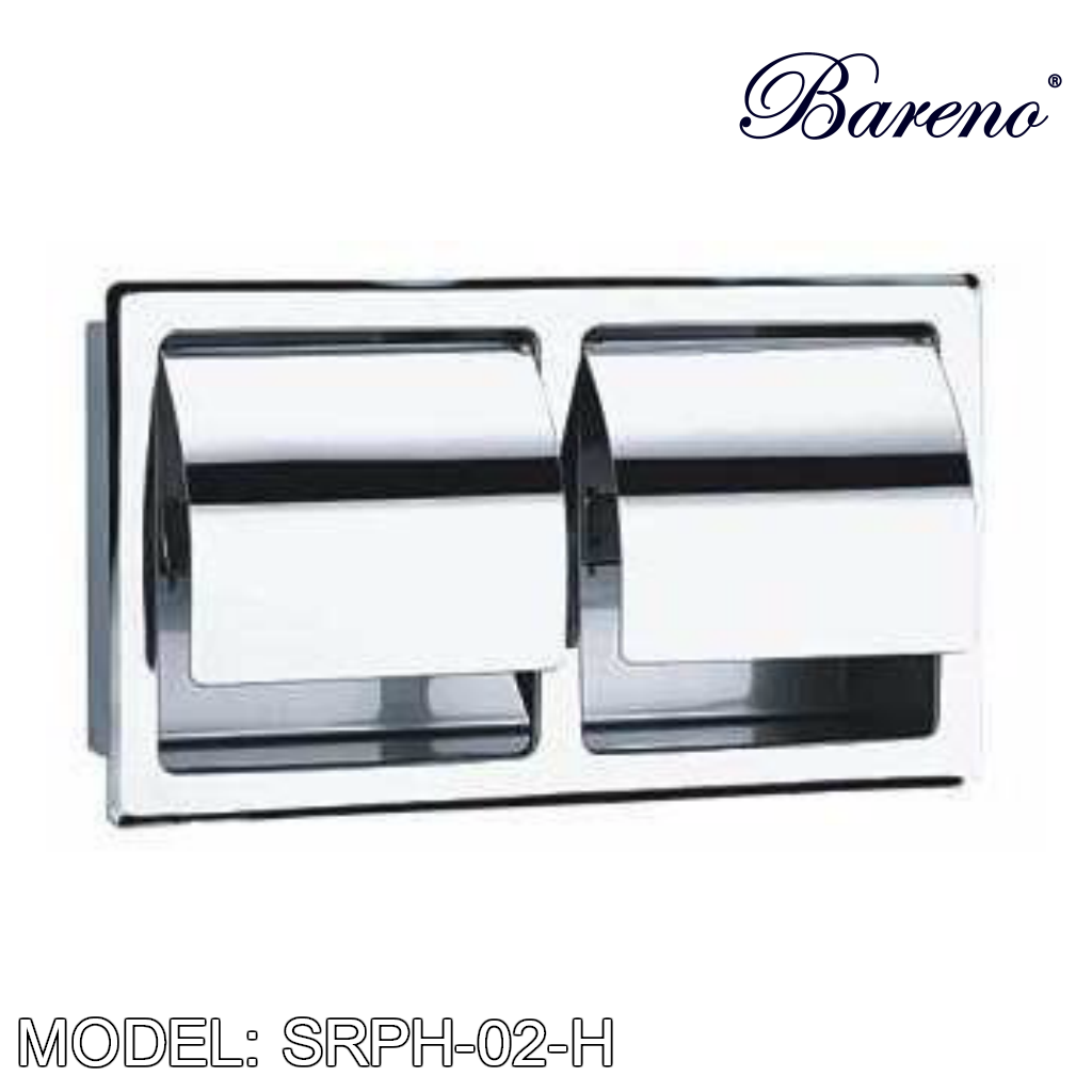BARENO PLUS Paper Holder SRPH-02-H, Bathroom Accessories, BARENO PLUS - Topware Solutions