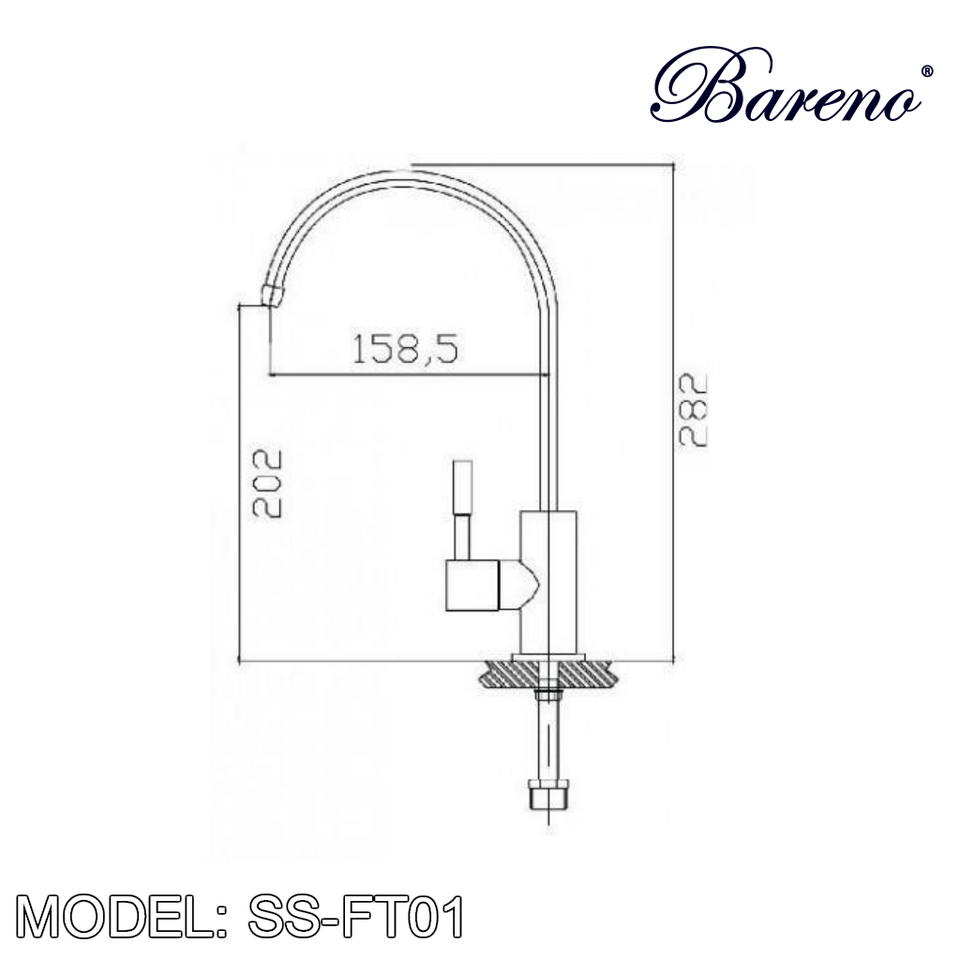 BARENO PLUS Pillar Filter Tap SS-FT01, Kitchen Faucets, BARENO PLUS - Topware Solutions