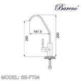 BARENO PLUS Pillar Filter Tap SS-FT04, Kitchen Faucets, BARENO PLUS - Topware Solutions