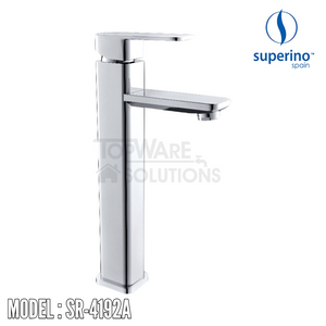 SUPERINO Raised Pillar Basin Mixer Tap SR-4192A, Bathroom Faucets, SUPERINO - Topware Solutions