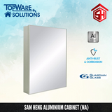 SAM HENG Mirror Cabinet SMC - Black, White & Silver, Bathroom Accessories, SAM HENG - Topware Solutions