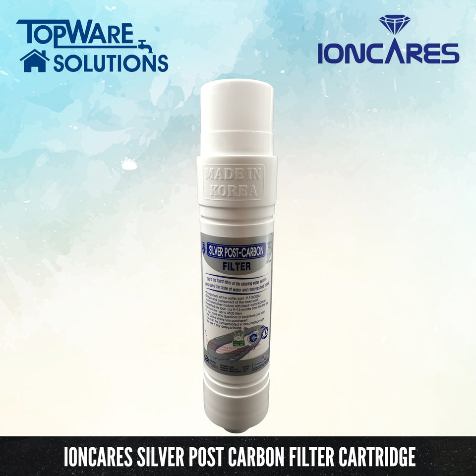 "IONCARES 10"" Korea Water Filter Replacement Cartridges Set ( Inline, U Type ) Water Purification System, Water Filters, IONCARES - Topware Solutions"