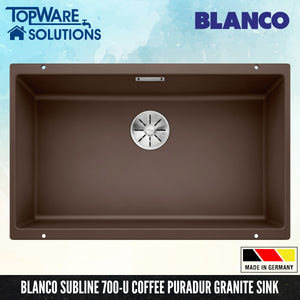 BLANCO Subline 700-U Silgranit™ PuraDur™ Granite Sink With InFino™ Waste, Kitchen Sinks, BLANCO - Topware Solutions