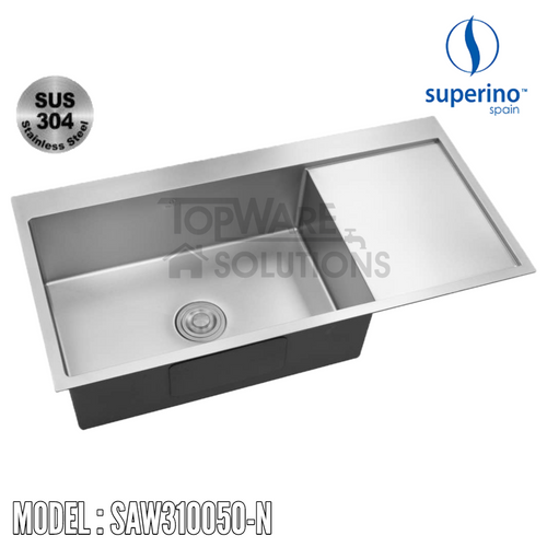 SUPERINO SUS304 Stainless Steel NANO Sink SAW310050-N Kitchen Sinks SUPERINO - Topware Solutions