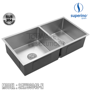 SUPERINO SUS304 Stainless Steel NANO Sink SAW39046-N Kitchen Sinks SUPERINO - Topware Solutions