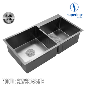 SUPERINO SUS304 Stainless Steel NANO BLACK Sink SAW39048-NB Kitchen Sinks SUPERINO - Topware Solutions