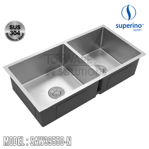 SUPERINO SUS304 Stainless Steel NANO Sink SAW39550-N Kitchen Sinks SUPERINO - Topware Solutions