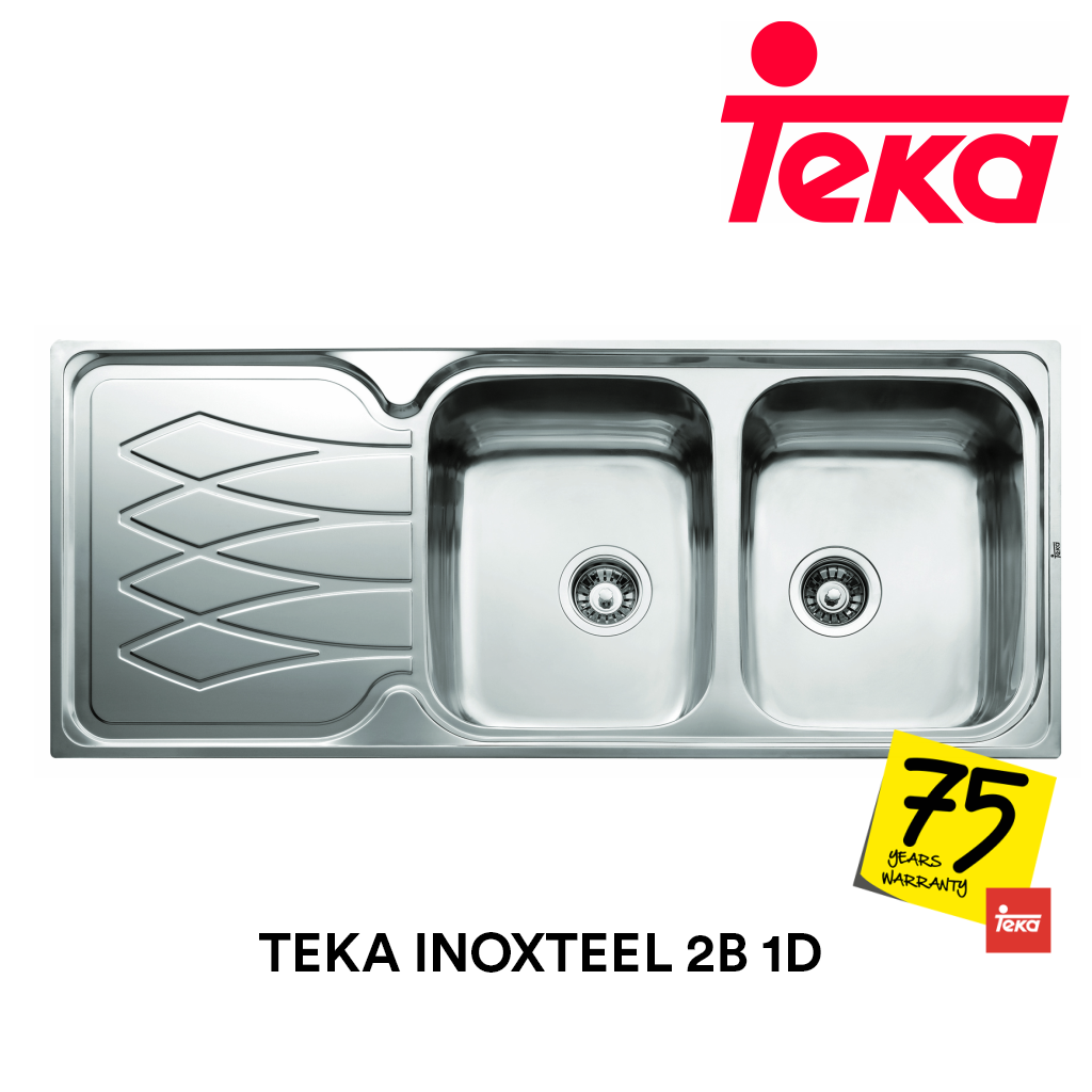 TEKA Stainless Steel Sink Inoxteel 2B 1D, Kitchen Sinks, TEKA - Topware Solutions