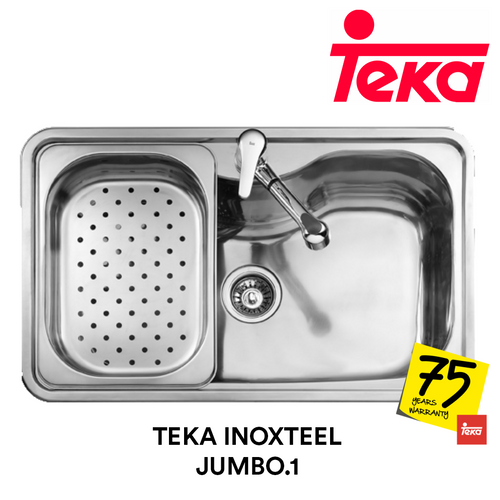 TEKA Stainless Steel Sink Inoxteel Jumbo.1, Kitchen Sinks, TEKA - Topware Solutions