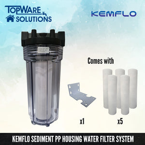 "KEMFLO 10"" PP Water Filter System Set, Water Filters, KEMFLO - Topware Solutions"