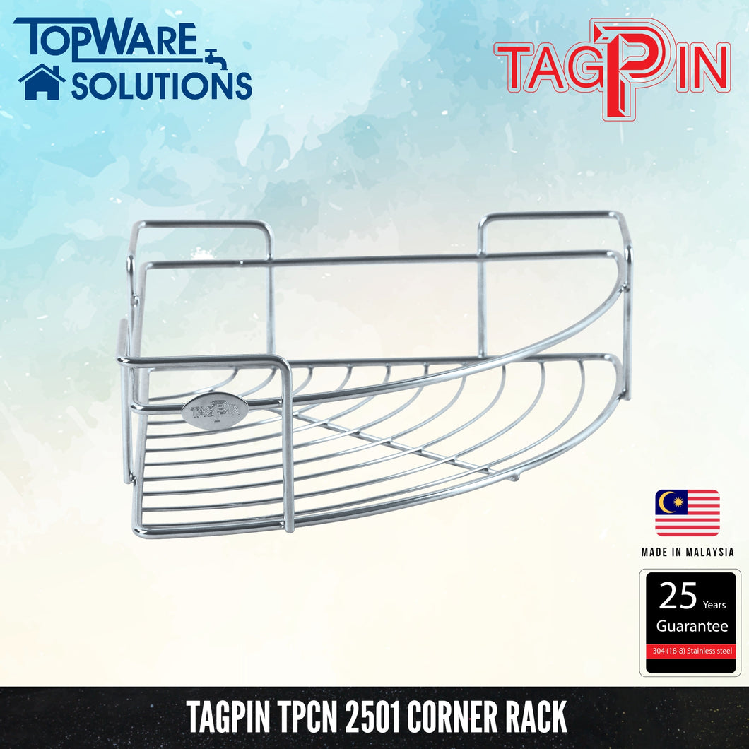 TAGPIN TPCN 2501 Corner Rack, Bathroom Accessories, Tagpin - Topware Solutions