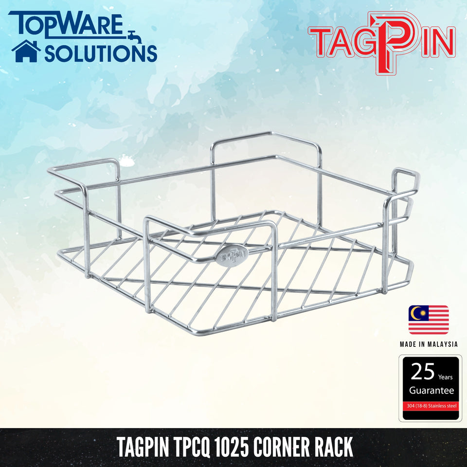 TAGPIN TPCQ 1025 Corner Rack, Bathroom Accessories, Tagpin - Topware Solutions