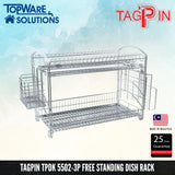 TAGPIN TPDK 5502-3P Dish Rack, Bathroom Accessories, Tagpin - Topware Solutions