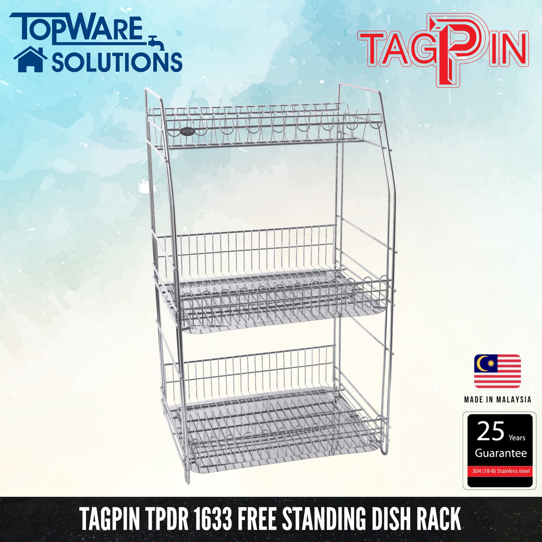 TAGPIN TPDR 1633 Dish Rack, Bathroom Accessories, Tagpin - Topware Solutions