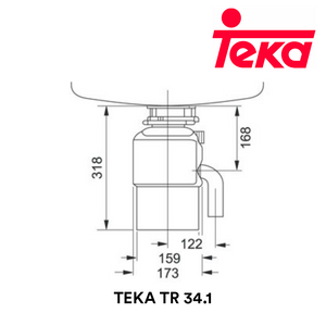 TEKA Food Waste Disposer TR 34.1 Food Waste Disposer TEKA - Topware Solutions