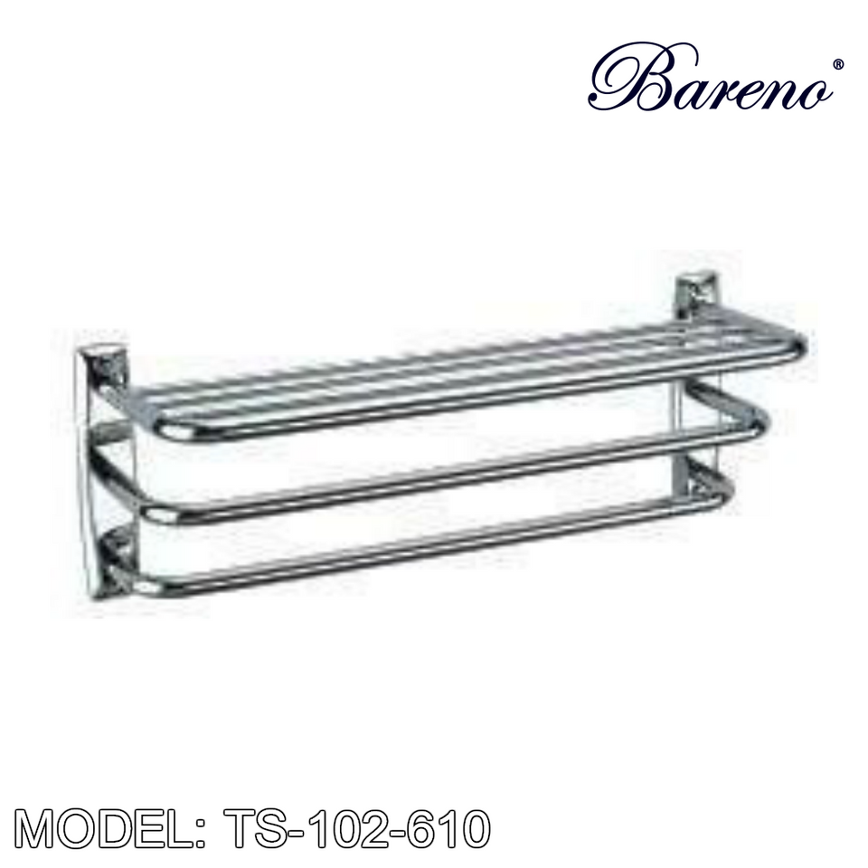 BARENO PLUS Towel Bar TS-102-610, Bathroom Accessories, BARENO PLUS - Topware Solutions