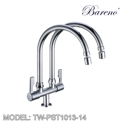 BARENO PLUS Double Spout Pillar Sink Tap TW-PST1013-14, Kitchen Faucets, BARENO PLUS - Topware Solutions