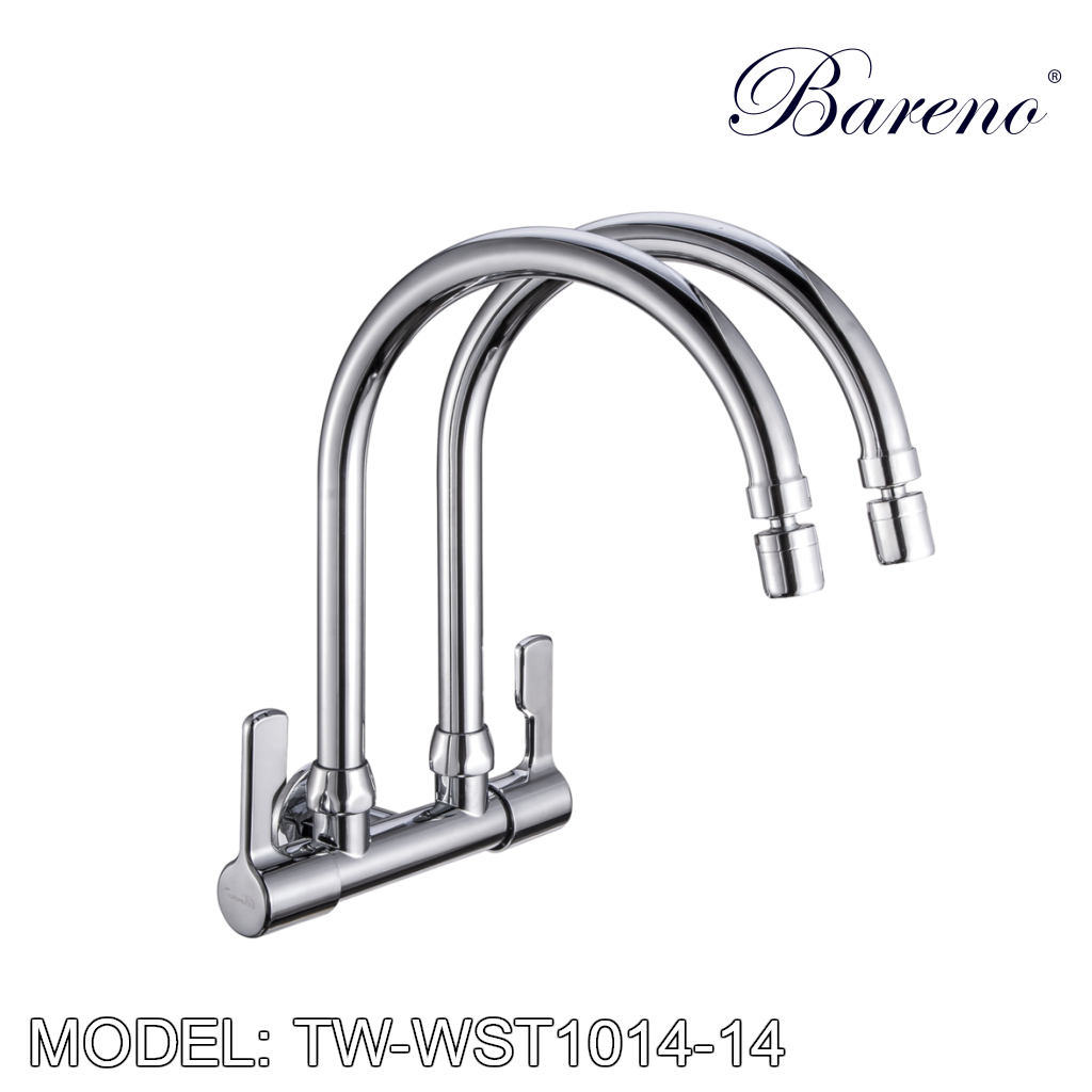 BARENO PLUS Wall Sink Tap TW-WST1014-14, Kitchen Faucets, BARENO PLUS - Topware Solutions