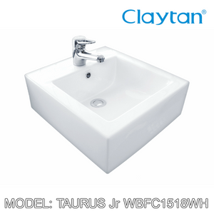 CLAYTAN Taurus Jr. Wall Basin WBFC1518WH, Bathroom Basins, CLAYTAN - Topware Solutions