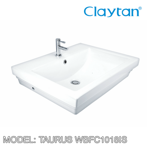 CLAYTAN Taurus Inset Basin WBFC1018IS, Bathroom Basins, CLAYTAN - Topware Solutions