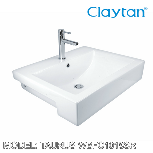 CLAYTAN Taurus Semi Recess Basin WBFC1018SR, Bathroom Basins, CLAYTAN - Topware Solutions