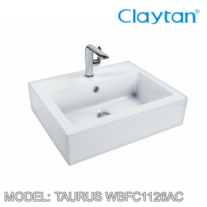 CLAYTAN Taurus Teen Counter Top Basin WBFC1126AC, Bathroom Basins, CLAYTAN - Topware Solutions