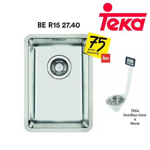 TEKA Stainless Steel Sink BE R15 27.40, Kitchen Sinks, TEKA - Topware Solutions