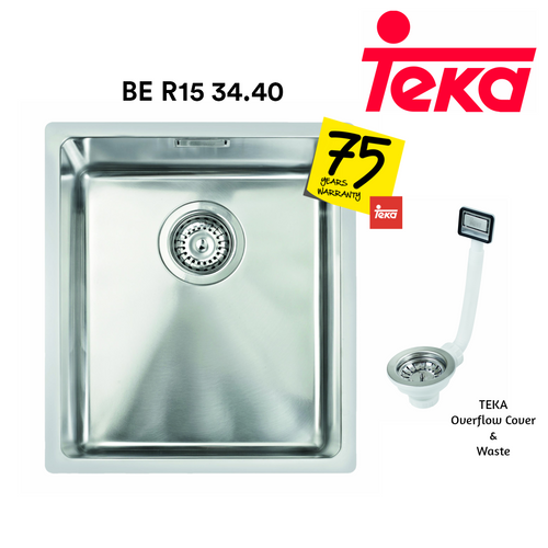 TEKA Stainless Steel Sink BE R15 34.40 Kitchen Sinks TEKA - Topware Solutions
