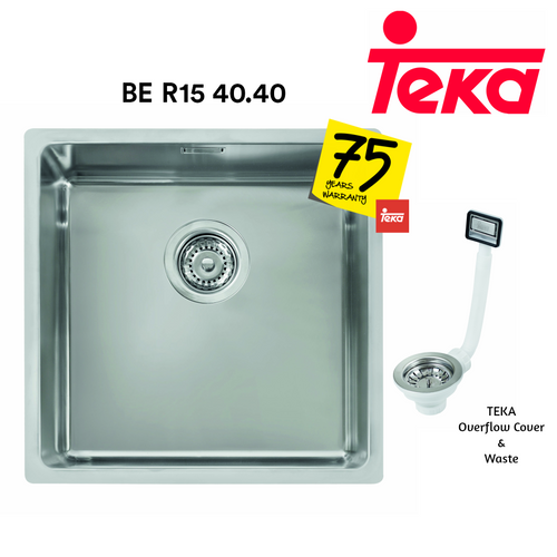 TEKA Stainless Steel Sink BE R15 40.40, Kitchen Sinks, TEKA - Topware Solutions