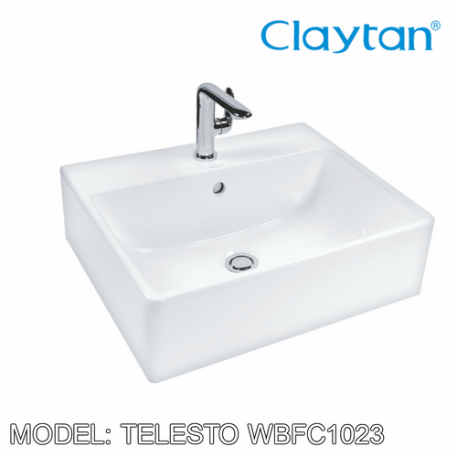 CLAYTAN Telesto Wall Hung Basin WBFC1023, Bathroom Basins, CLAYTAN - Topware Solutions