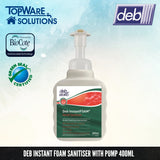 DEB Hand Sanitizer Foam With Pump 400ml, Hygiene Solution, DEB - Topware Solutions