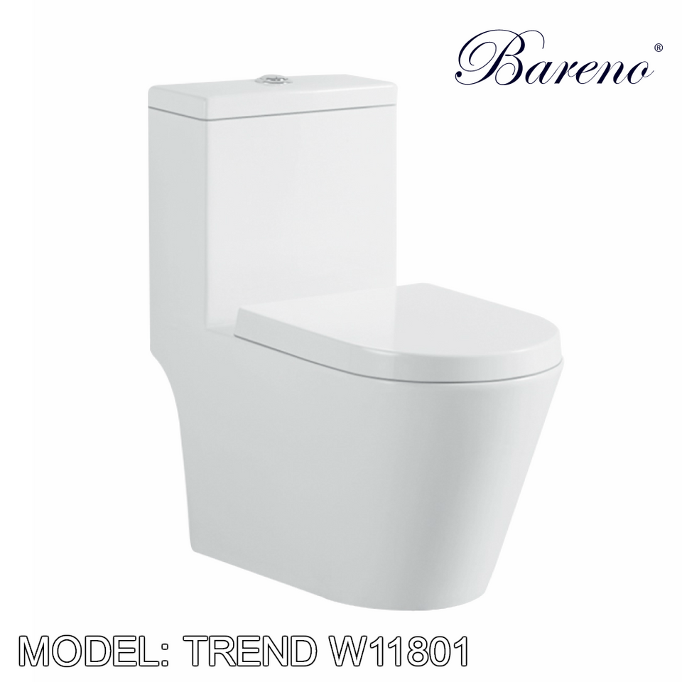 BARENO One Piece Trend W11801, Bathroom W.Cs, BARENO - Topware Solutions