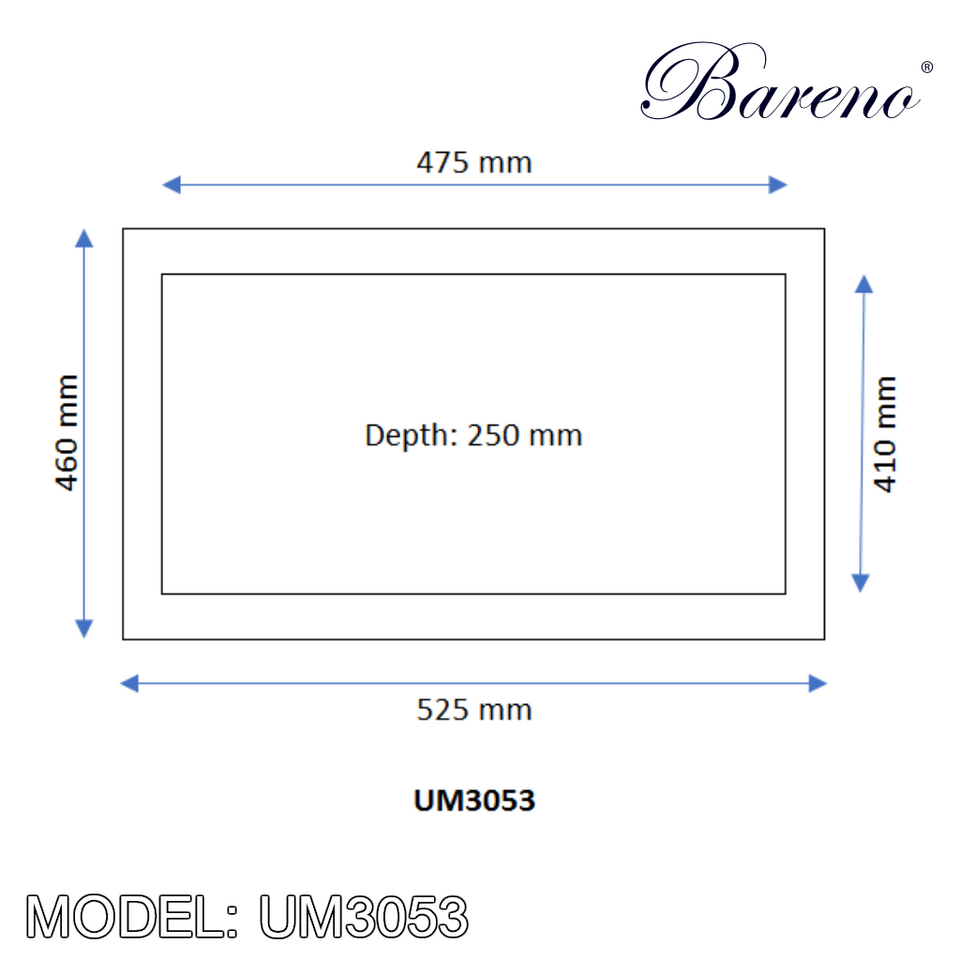 BARENO Kitchen Sink UM3053, Kitchen Sinks, BARENO - Topware Solutions