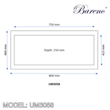 BARENO Kitchen Sink UM3058, Kitchen Sinks, BARENO - Topware Solutions
