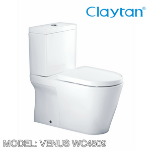 CLAYTAN Venus Close Couple Pan WC4509, Bathroom W.Cs, CLAYTAN - Topware Solutions